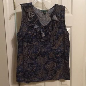 Lauren sleeveless blouse